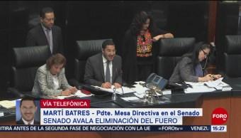 Foto: Senado avala ampliar causas para eliminar el fuero