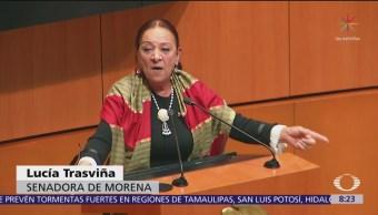 Senadora de Morena llama 'sátrapas y ratas a senadores en discusión