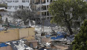 Foto: Daños por atentado contra un hotel en Mogadiscio., 1 de marzo de 2019, Somalia