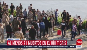 Sigue rescate tras hundimiento de ferry en río Tigris de Irak
