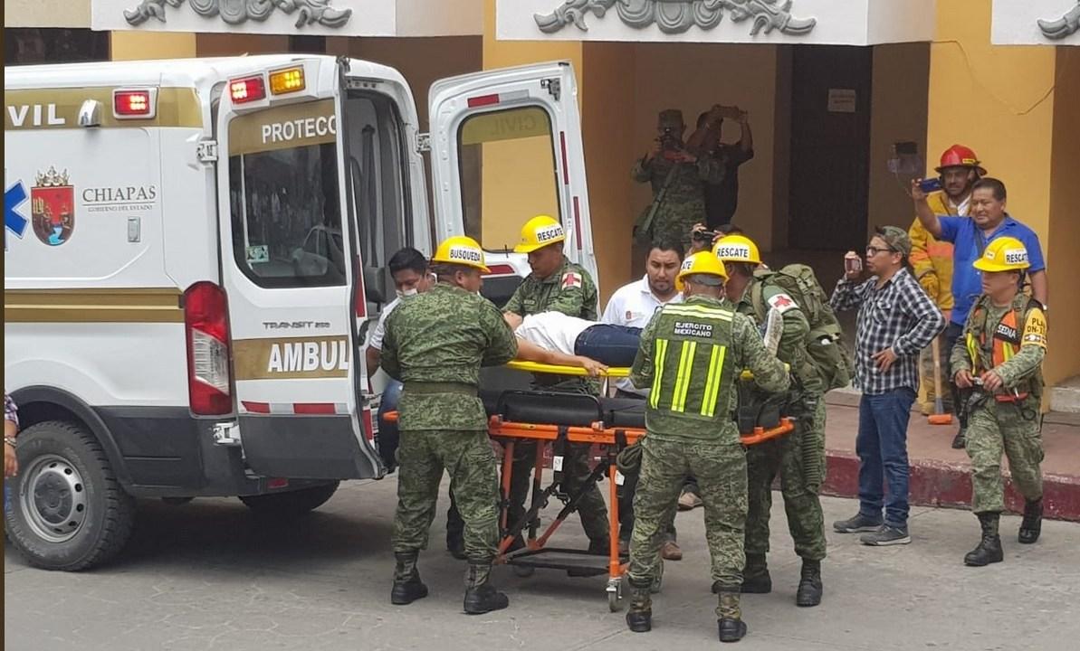 Foto: Simulacro de sismo en Chiapas, 20 de marzo 2019. Twitter @pcivilchiapas