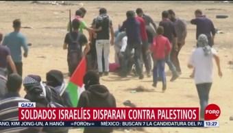 FOTO: Soldados israelíes disparan contra palestinos, 2 marzo 2019