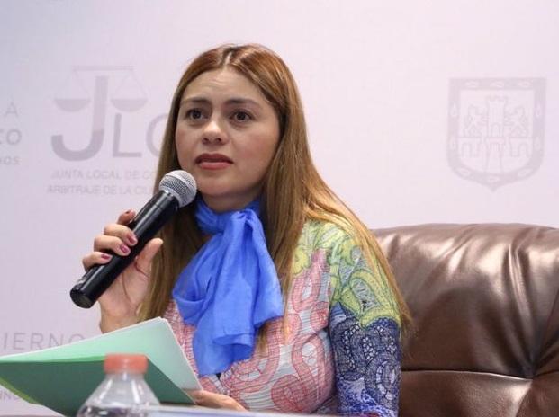 Foto: Soledad Aragón Martínez, secretaria del Trabajo de la CDMX, asegura que trabajadoras domésticas no quieren ser parte de la familia, sino contar con derechos laborales, 10 de marzo de 2019 (Twitter: @SolAragonMtz)