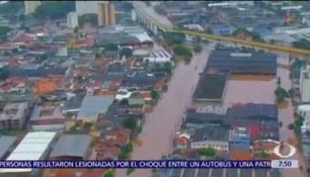 Sube a 12 cifra de muertos por lluvias en Brasil