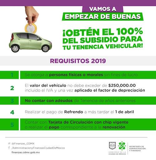 Foto Subsidio Tenencia CDMX 26 Marzo 2019