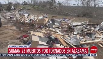 Foto: Suman 23 muertos por tornados en Alabama, EU