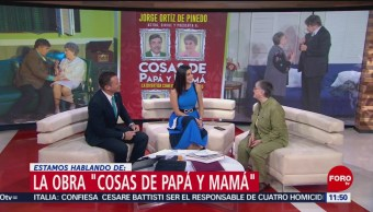 Foto: Susana Alexander habla de la obra 'Cosas de papá y mamá'