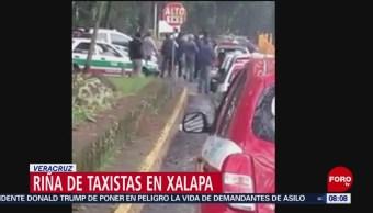 FOTO:Taxistas se agarran a golpes por el pasaje en Veracruz, 23 Marzo 2019