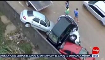 Temporal causa deslaves e inundaciones en Brasil