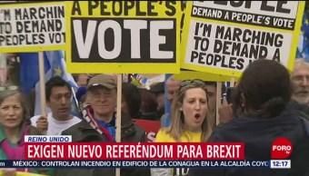 FOTO:Termina marcha en Londres para exigir nuevo referéndum sobre 'brexit', 23 Marzo 2019