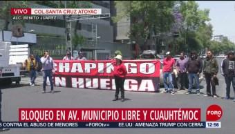 Foto: Trabajadores Universidad Chapingo Bloquean Avenida Cuauhtémoc Cdmx 29 de Marzo 2019