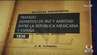 Foto: Tratado de paz y amistad entre España y México