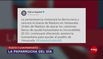 Foto: Venezuela, Ayuda Humanitaria Noticias Falsas 15 de Marzo 2019