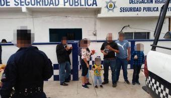 Foto: Las personas fueron remitidas al Instituto Nacional de Migración (INM) con base en Acayucan, el 17 de marzo de 2019 (SSP Veracruz)