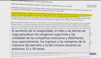 Foto: Violencia pone en riesgo a empresa mexicanas: Moody's