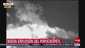 Volcán Popocatépetl, en calma tras explosión
