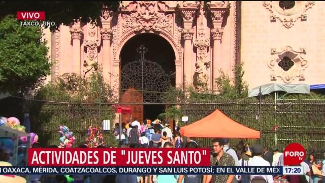 FOTO: Actividades de Jueves Santo en Taxco, Guerrero, 18 ABRIL 2019