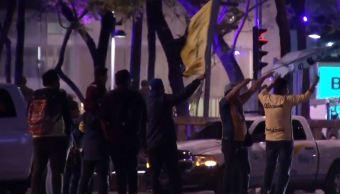Foto: Festejos de aficionados del América concluyeron sin incidentes en el Ángel de la Independencia, 11 abril 2019