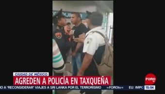 FOTO: Agreden a policía en la estación Taxqueña del Metro en CDMX, 27 ABRIL 2019