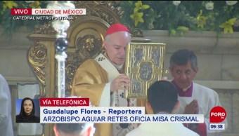 FOTO: Aguiar Retes oficia la misa Crismal, 18 abril 2019