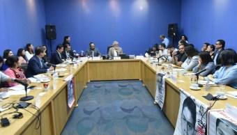 Foto: Cuarta reunión ordinaria de la Comisión Presidencial para la Verdad y el Acceso a la Justicia en el caso Ayotzinapa, 17 de abril 2019. Twitter @A_Encinas_R