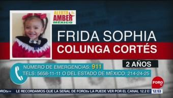 Alerta Amber por Frida Sophia Colunga Cortés, de 2 años