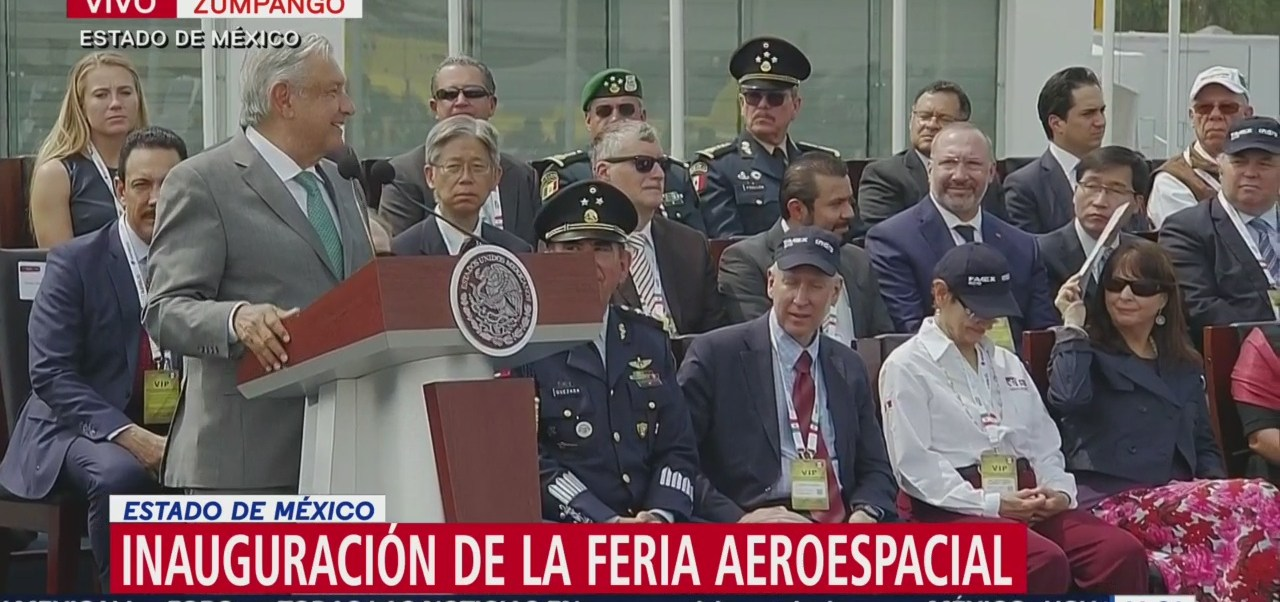AMLO inaugura la Feria Aeroespacial en Santa Lucía, Edomex