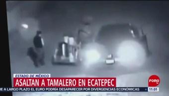 Asaltan a tamalero en Ecatepec, Estado de México