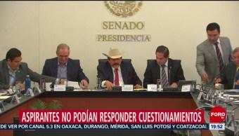 Foto: Aspirantes CRE Rechazan Contestar Preguntas Senadores 2 de Abril 2019
