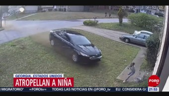 Foto: Automovilista Atropella Niña Jugaba Casa USA Georgia 1 de Abril 2019