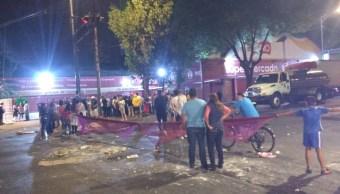 Foto Bloque en La Viga por cancelar 'cascarita' en El Retoño 18 abril 2019