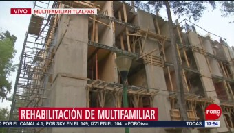 Foto: Avanzan labores de rehabilitación en Multifamiliar Tlalpan