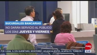 Bancos no abrirán jueves y viernes santos