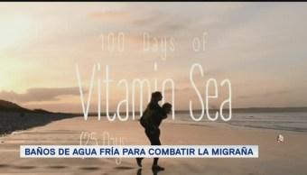 FOTO: Baños de agua fría para combatir la migraña, 14 de abril 2019