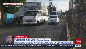 FOTO: Bolero muere atropellado al intentar cruzar la calle en Ecatepec, Edomex, 13 de abril 2019