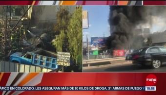 FOTO: Bomberos controlan incendio en terreno baldío en Santa Fe, 18 ABRIL 2019
