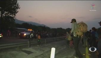 FOTO: Caravana migrante continúa su camino hacia Oaxaca, 18 ABRIL 2019