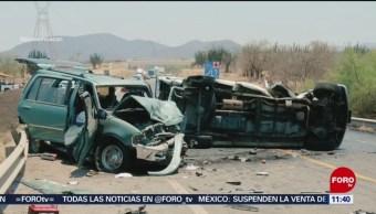 FOTO: Choque de camionetas en la Autopista Siglo 21 deja un muerto, 18 ABRIL 2019