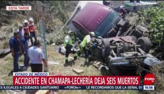 Foto: Choque entre tráiler y camioneta deja seis muertos