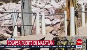 FOTO: Colapsa puente en Mazatlán, Sinaloa, 19 ABRIL 2019