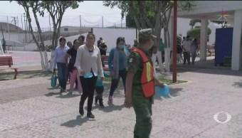 FOTO: Comunidades cercanas al Popocatépetl realizan simulacro, 24 ABRIL 2019