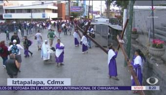 FOTO: Continúa representación de 'La Pasión de Cristo' en Iztapalapa, 19 ABRIL 2019
