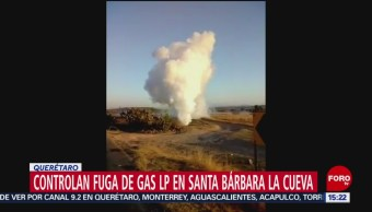 FOTO: Controlan fuga de gas LP en toma clandestina en san juan del río, Querétaro, 20 ABRIL 2019
