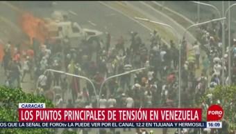 Foto: Cronología de disturbios a lo largo de la jornada en Venezuela