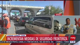 Foto: Cruce de la frontera a EU, desde Ciudad Juárez, afectada por falta de personal