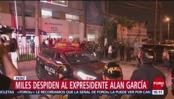 FOTO: Dan el último adiós al expresidente Alan García, 18 ABRIL 2019