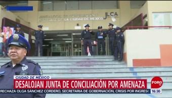 Foto: Desalojan Junta de conciliación por amenaza de bomba