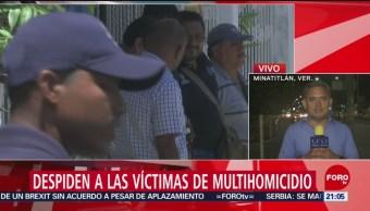 FOTO: Despiden a las víctimas del multihomicidio en Minatitlán,21 ABRIL 2019