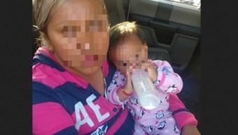 Foto: Mujer detenida por robo de la bebé Nancy Tirzo, 18 de abril 2019. Twitter @seguridadneza