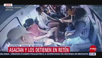 Foto: Detienen Banda Ladrones Trasporte Público Ecatepec 4 de Abril 2019